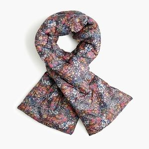 J. Crew Floral Puffer Scarf